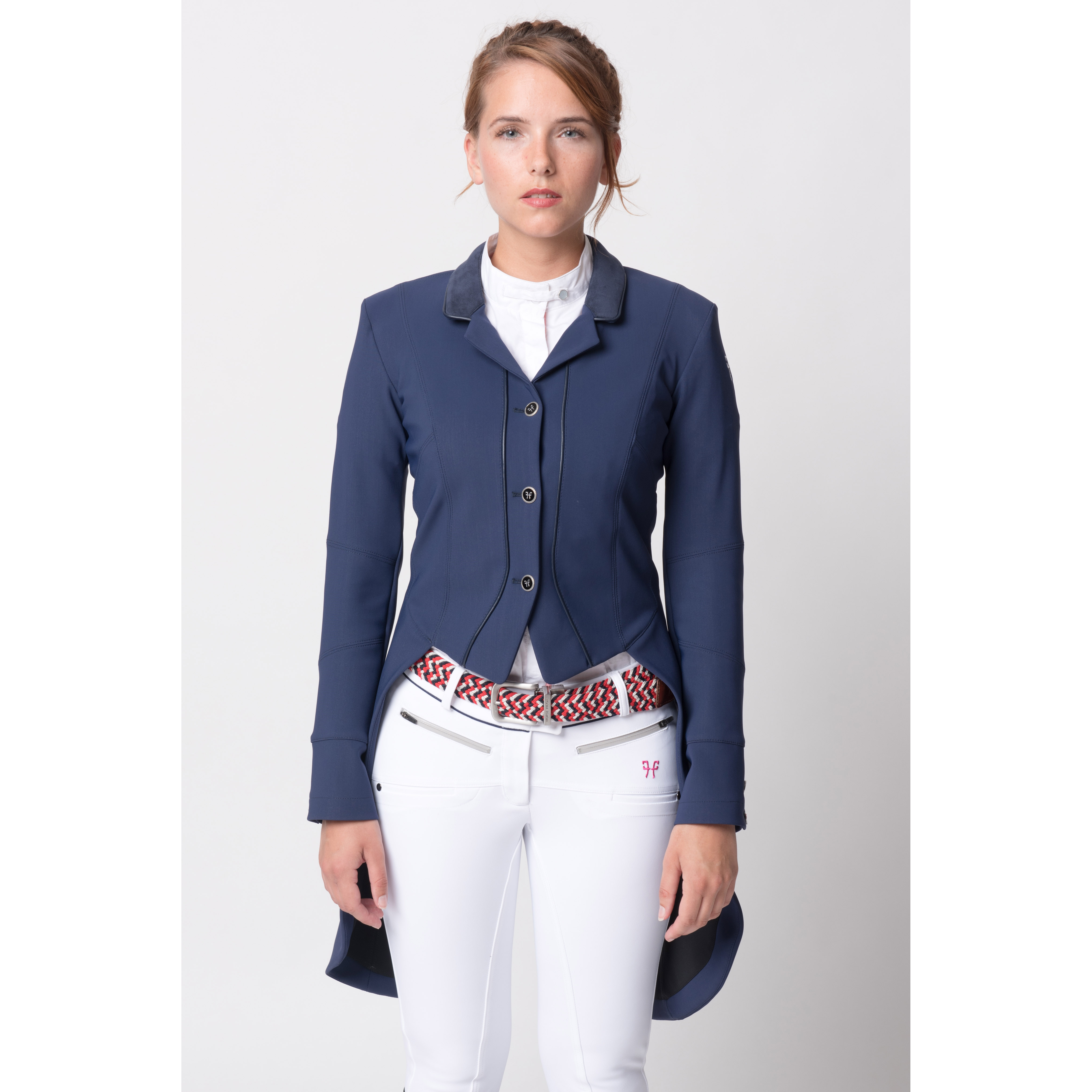Horse Pilot Ladies Dressage Frac Jacket Royal Equestrian
