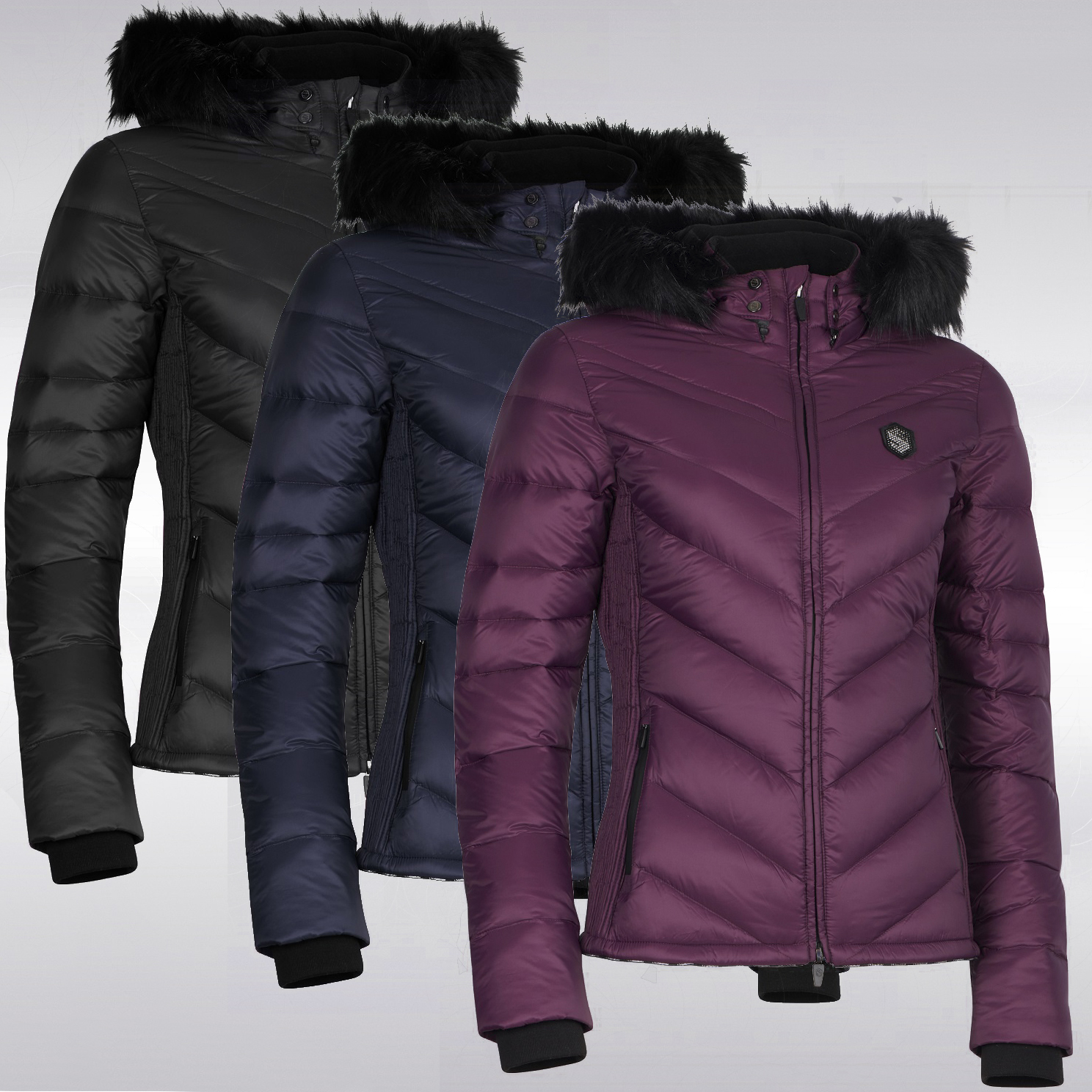 c8b90c8bacd Samshield Womens Down Jacket Courchevel - Royal Equestrian