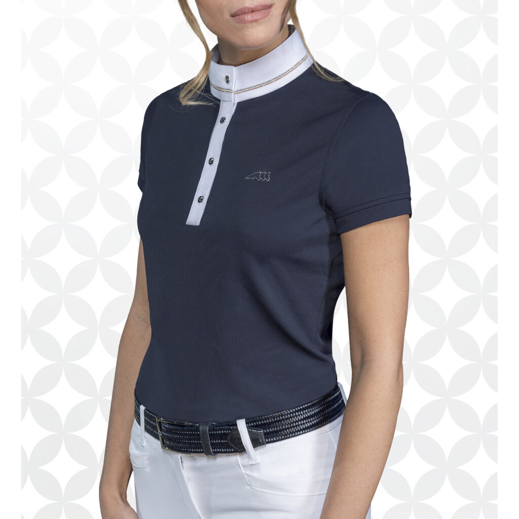 Equiline Womens Competition Shirt Grace Royal Equestrian